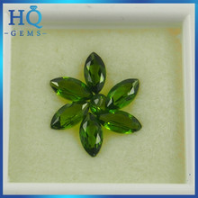 marquise cut 4*2mm natural diopside stone semi precious chrome diopside