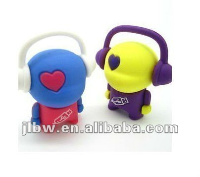 Wholesale 4GB 8GB 16GB 32GB Lovely music man USB Flash Drive 100%real capacity, Christmas Gift