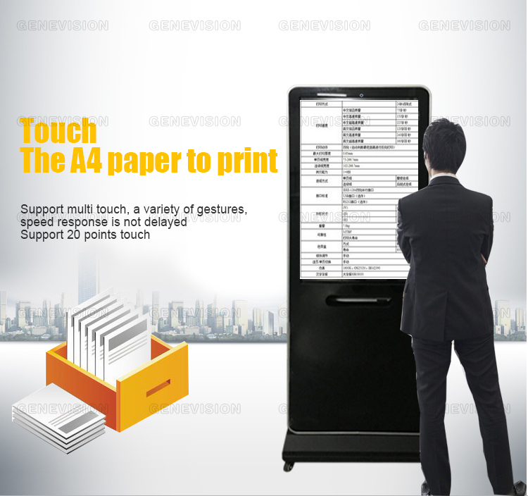 a4 printer advertisement machine touches the machine interactive advertising machine