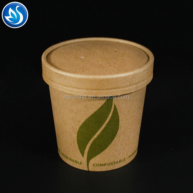 Disposable paper soup cup with custom printing,disposable cups for soup