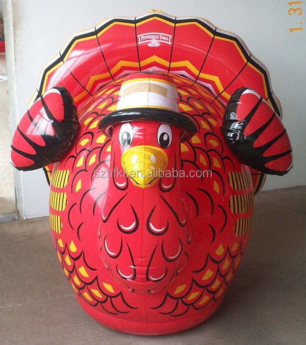beautiful design easy storage inflatable turkey for thanksgiving day decoration