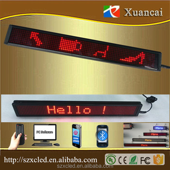 Top quality& factory price Retail business Good Easy operate usb wireless remote led moving sign
