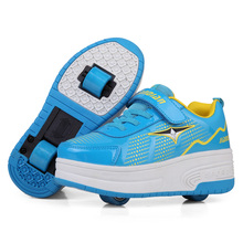 Factory price one or two wheels skate roller shoes speed LED light roller skate shoes sneaker roller shoes