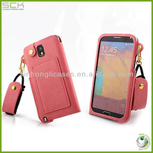 for samsung galaxy note 2 with card bag leather case