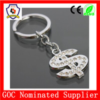 personalized US dollars symbol shape keychain with rhinestone $ key chain/ dollar symbol metal keyring USD(HH-key chain-939)