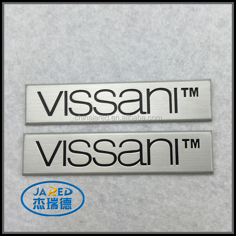 custom promotional aluminum engraved metal logo