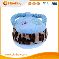 Blue Durable Suede Fabric Dog Toy Shoe with Squeaker Free Shipping on order 49usd