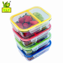 Glass Meal Prep Containers - 4-Pack 2 Compartment Food Storage Containers with Divider to the Top, 35oz