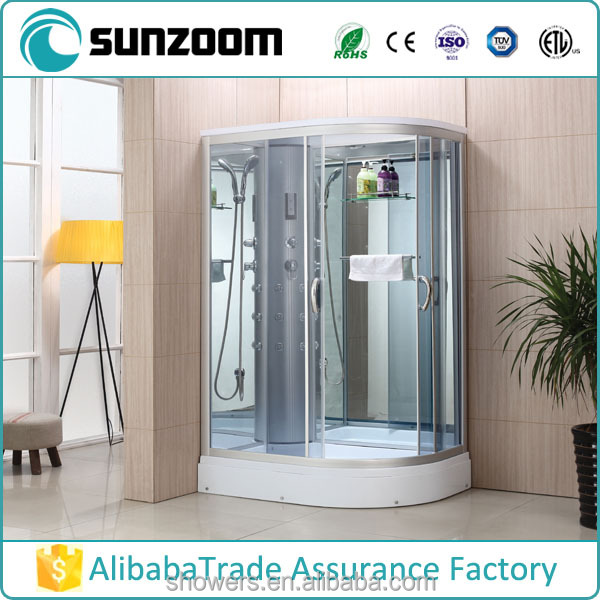 SUNZOOM led shower products,shower cabinet, steam shower room with ETL steam generator