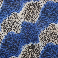 OEM service newest design high quality polyester leopard printed fabric