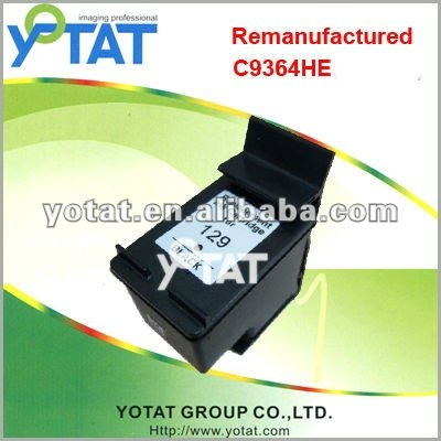 Remanufactured inkjet cartridge for HP 129 C9364HE