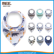 double layer for pet dog infant metallic factory button minky drool baby bandana bibs