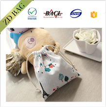 fashion design pattern drawstring Mini cotton bag