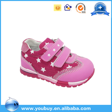 Healthy OEM manufactured orthopedic running shoes for baby / kids girls