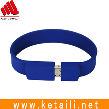 Precision Newly Designed waterproof USB Flash Drive silicone USB bracelet