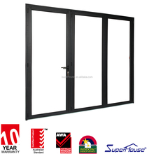 10 years warranty China supplier CSA cerificate aluminum frame exterior glass folding door