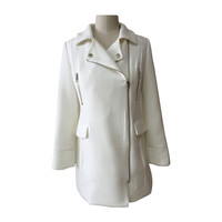 Latest Fashion Designs OEM/ODM Service White Trench Coat
