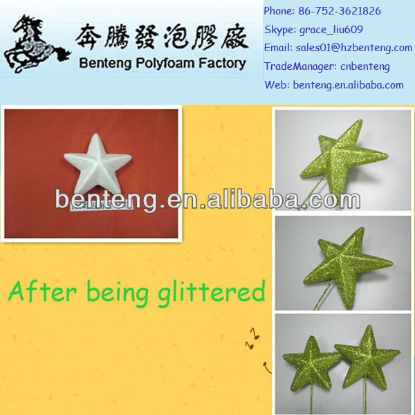 new products for 2013 best-selling decorative glitter foam star