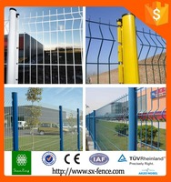 Alibaba Trade Assurance PVC Coated V Pressed Welded Wire Mesh Fence, Panel in 6 Gauge