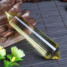 natural 13 faces citrine crystal points double terminated wands