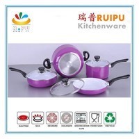 kitchen utensils and appliances 7pcs aluminum kitchenware series/ white ceramic cookware/cookware kitchenware