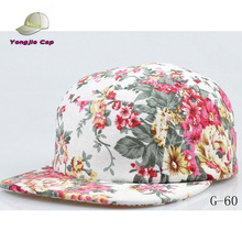 2014 custom floral 5 panel snapback hats wholesale
