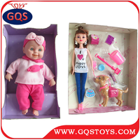Hot sell new design baby barbie plastic doll
