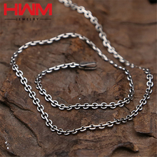 2016 New Designer thai 925 sterling silver Men's Necklace And Women Sweater long Chain