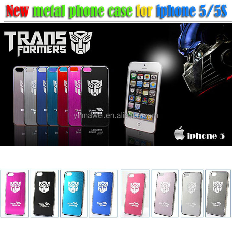 High quality Aluminum Metal Transformers Case for iPhone 5