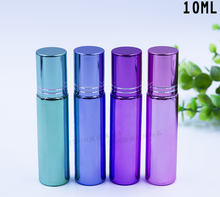 10ml glass perfume luxury aluminum plating cover blue\purple bottle perfume