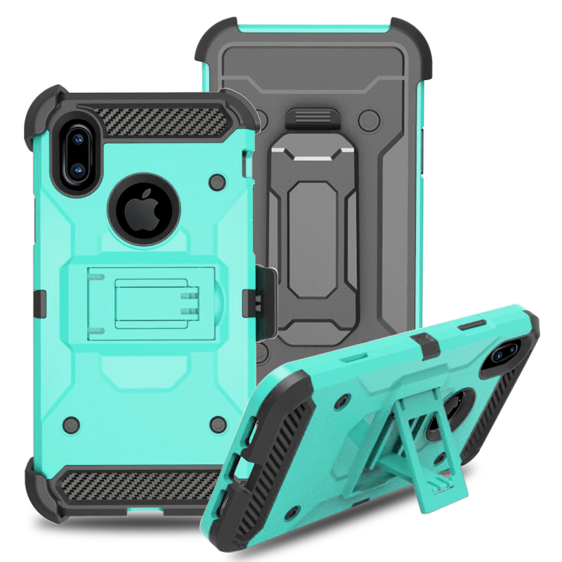 Tough Armor Phone Case with Extreme Heavy Duty Protect and Air Cushion Technology Case for iPhone X