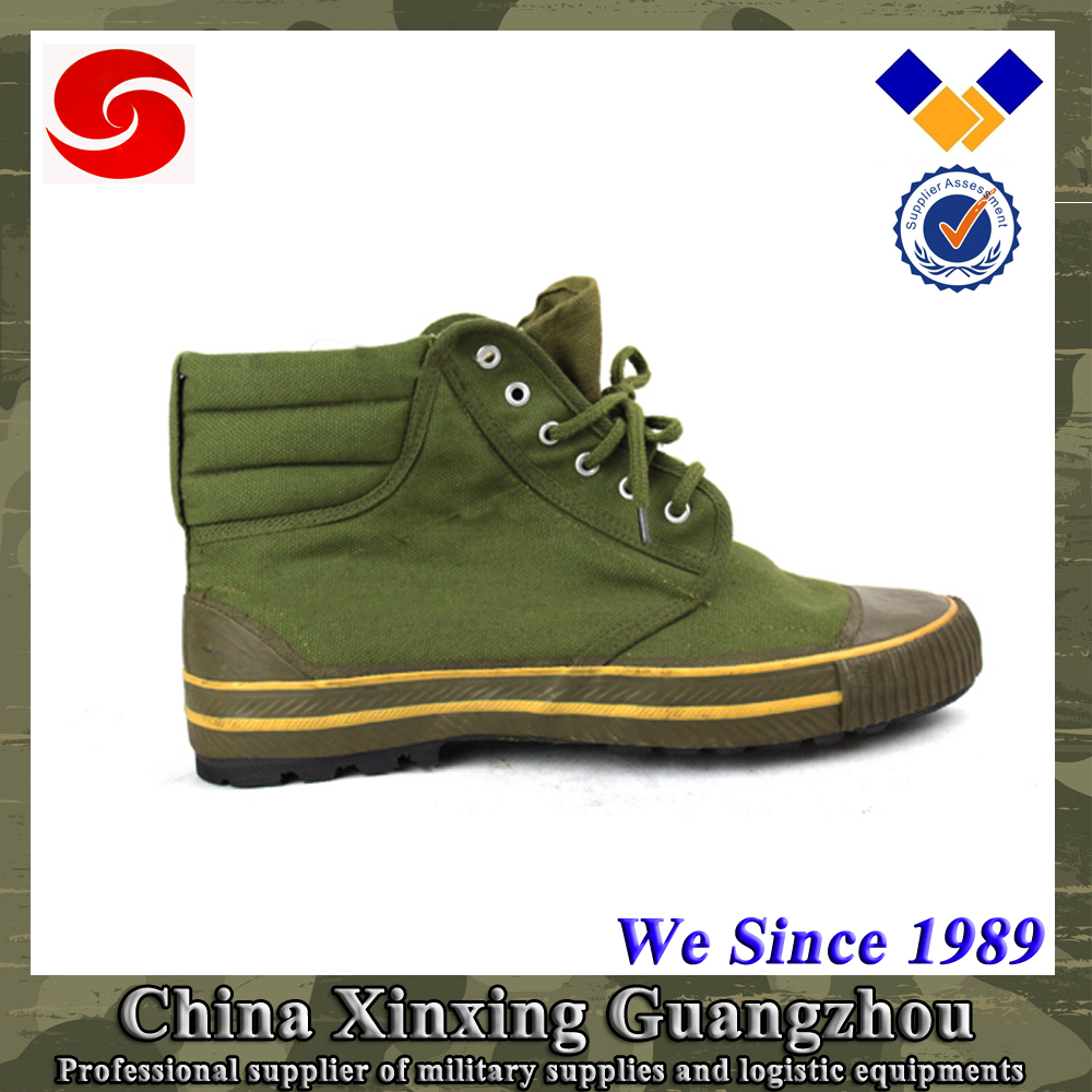Supply 200,000 pairs per Month Olive Green Cotton Canvas Aluminum eyelets Army Shoe with EVA sock liner