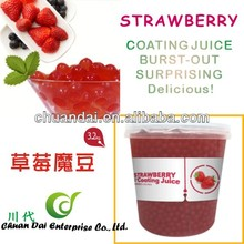Taiwan bubble tea Strawberry coating juice boba