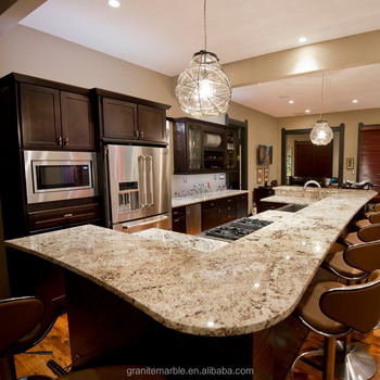 Ice brown granite countertop and dining table with low price