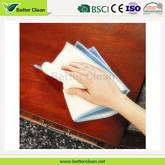 For furniture wipe microfiber fabric table cleaning cloth