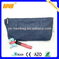 China Professional bag factory produce jean cosmetic bag(NV-CS157)