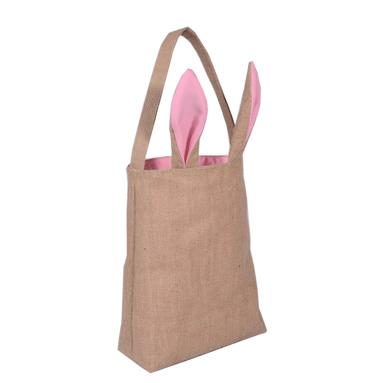 Reusable Easter Shop Decoration Egg Gift Tote Bag with Bunny Ears Design
