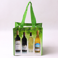 China products High quality reusable non woven 6 bottle wine bag wholesales wine bottle bag