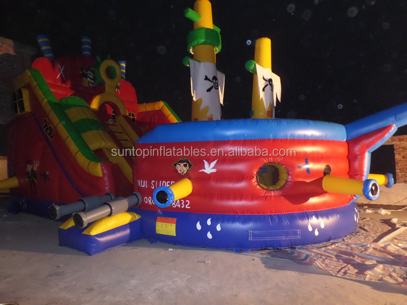high quality inflatable outdoor toys, inflatable pirate slide (CE,EN14960 and EN71 approved)