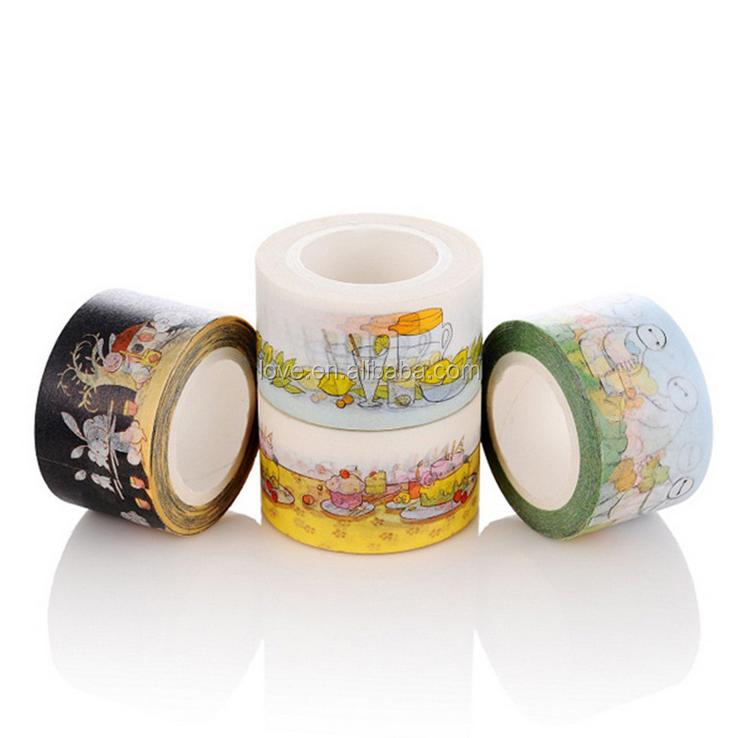 2.5cm*10m washi tape can be teared by hand adhesive paper tape cute planner accessories