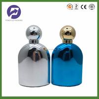 custom design beautiful UV glass perfume bottle with sprayer