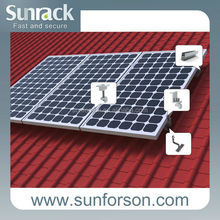 Inclined roof solar panel mounting brackets