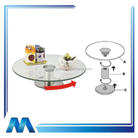 single layer revolving glass cake display stand ,cake stand,cake holder