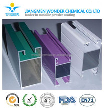 High gloss green purple white pure polyester powder coating for stainless steel roof