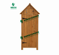 outdoor wooden storage cabinet