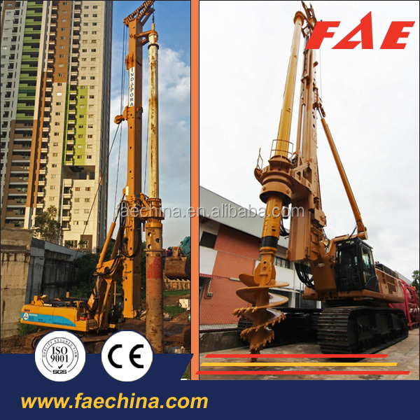 TOP foundation equipment FAR 280 hydraulic rotary drilling rig, best driving pile construction equipment