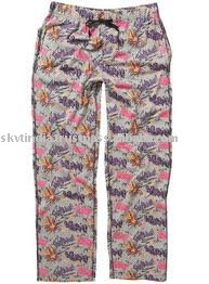 WOVEN PRINTED LADIES PAJAMAS/LADIES NIGHTWEAR