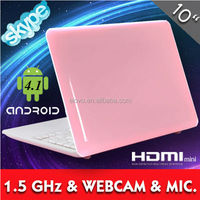 cheapest laptop in china 10inch VIA8850 mini laptop hot pink laptop for girls