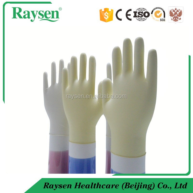 100% 280mm long natural rubber latex glove used for medical/dental