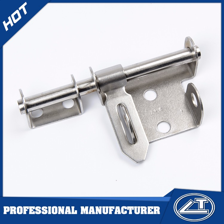 Stainless steel wholesale sliding T type tower door bolt with round radius